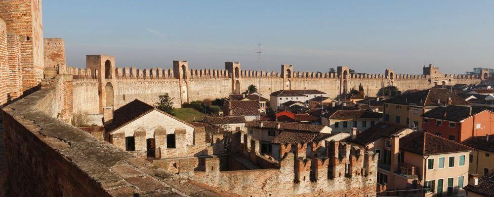 Cittadella, ville médiévale fortifiée, le Moyen Âge en Vénétie, nord de l'Italie