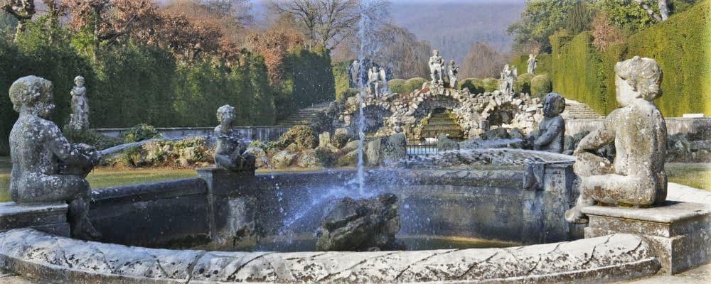 Rainbow fountain, garden of Valsanzibio, Euganean Hills